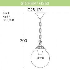 Уличный подвесной светильник Globe 250 G25.120.000.BZE27