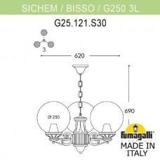Уличный подвесной светильник Globe 250 G25.120.S30.BXE27